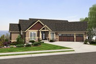 Front Rendering of Mascord House Plan 1323 - The Paysholme