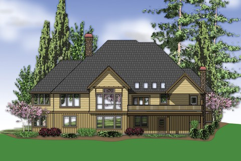 Image for Lenhart-Craftsman Style Home Plan for Down-sloping Lot-653
