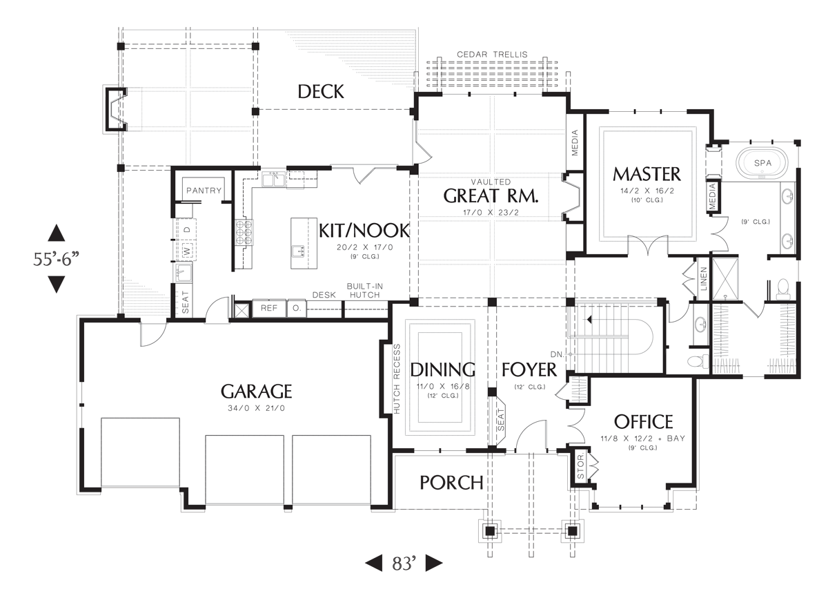 Mascord House Plan 1324 The Lenhart