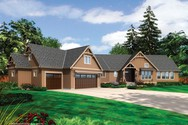 Front Rendering of Mascord House Plan 1325 - The Amberg
