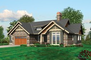 Front Rendering of Mascord House Plan 1326 - The Mensing