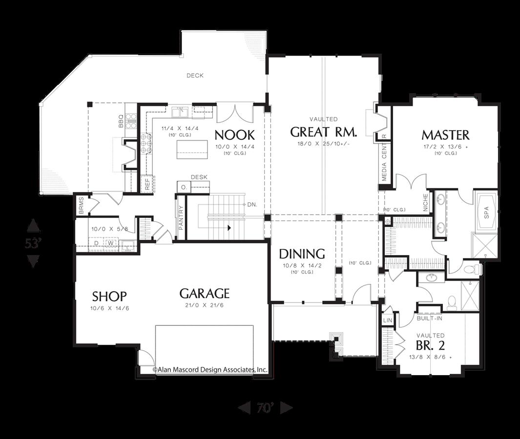 Craftsman House Plan 1326 The Mensing 3459 Sqft 4