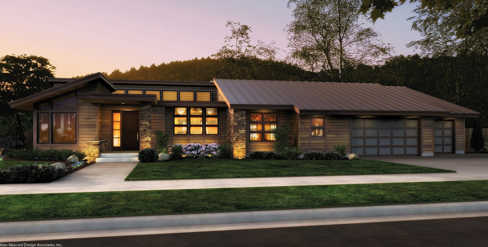 Image for Mercer-Single Story Contemporary Plan-665