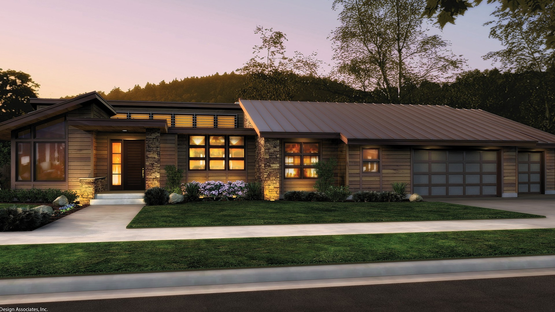 Contemporary House Plan 1327 The Mercer: 3296 Sqft, 3 Bedrooms, 3.1 ...