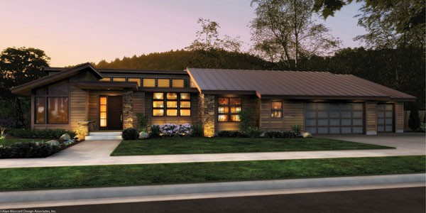 House Plan The Mercer Single Story Contemporary House Plan