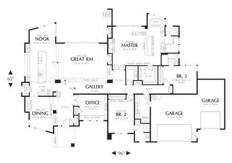 Image for Mercer-Single Story Contemporary Plan-Main Floor Plan