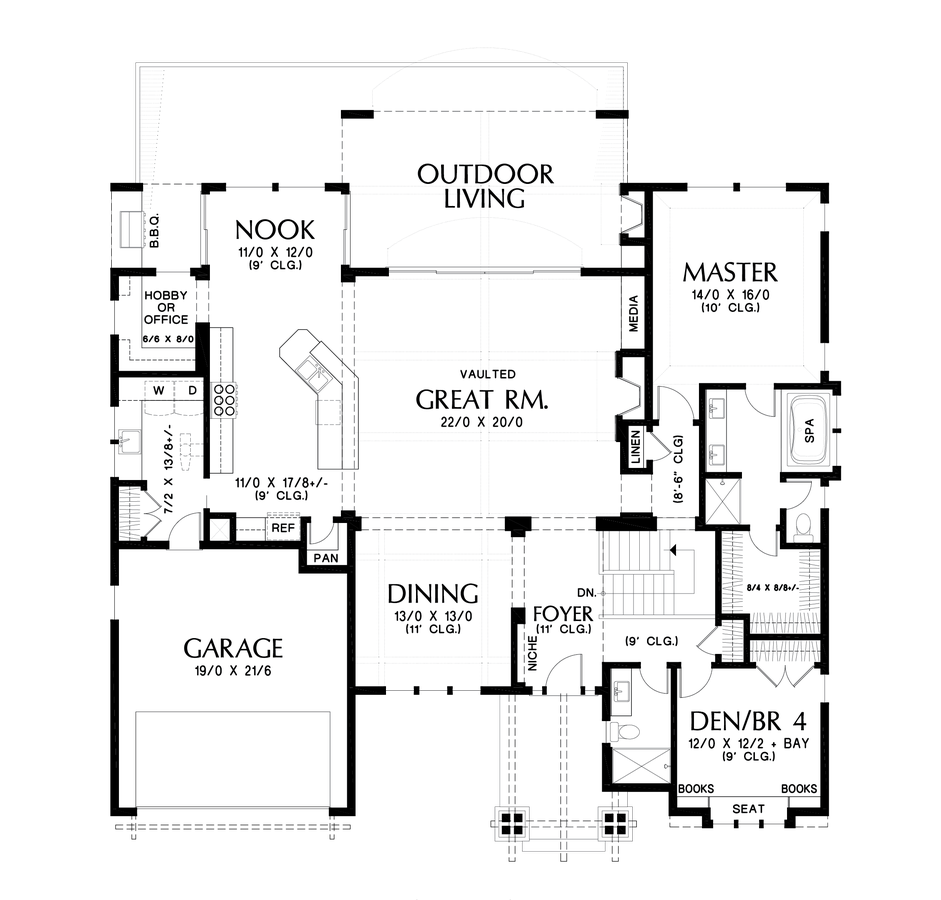 craftsman house plan 1329 the sycamore  3565 sqft  4 beds  4 baths