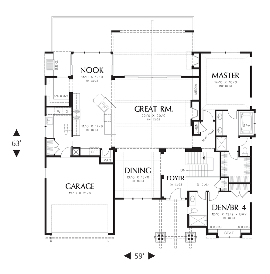 craftsman house plan 1329 the sycamore  3565 sqft  4 beds