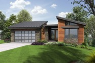 Front Rendering of Mascord House Plan 1330 - The Cormac
