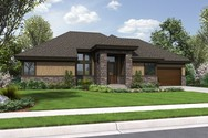 Front Rendering of Mascord House Plan 1332 - The Thompson