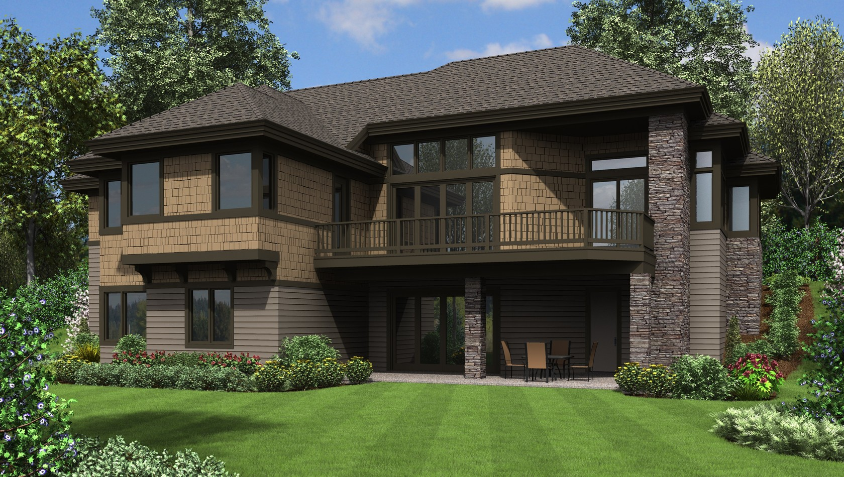 House plan 1332 the thompson for Building on a hillside plans