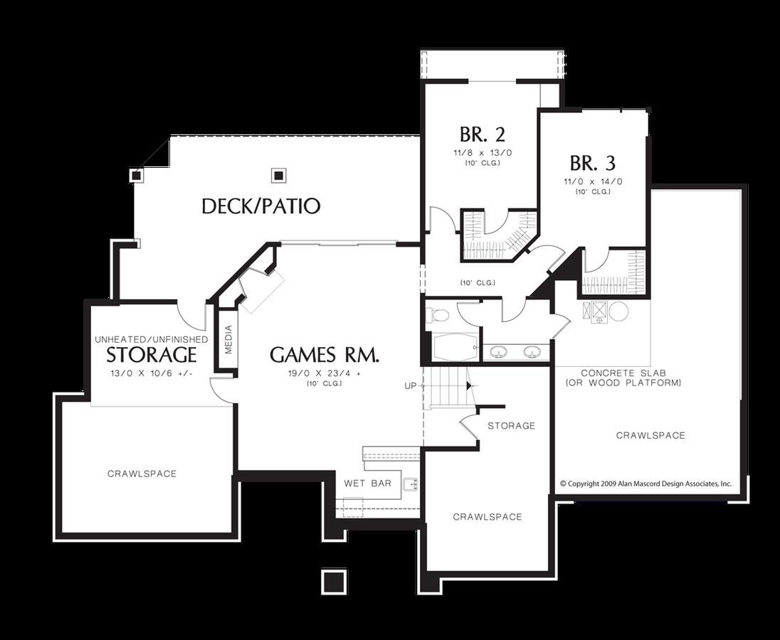 Mascord House Plan 1332 - The Thompson