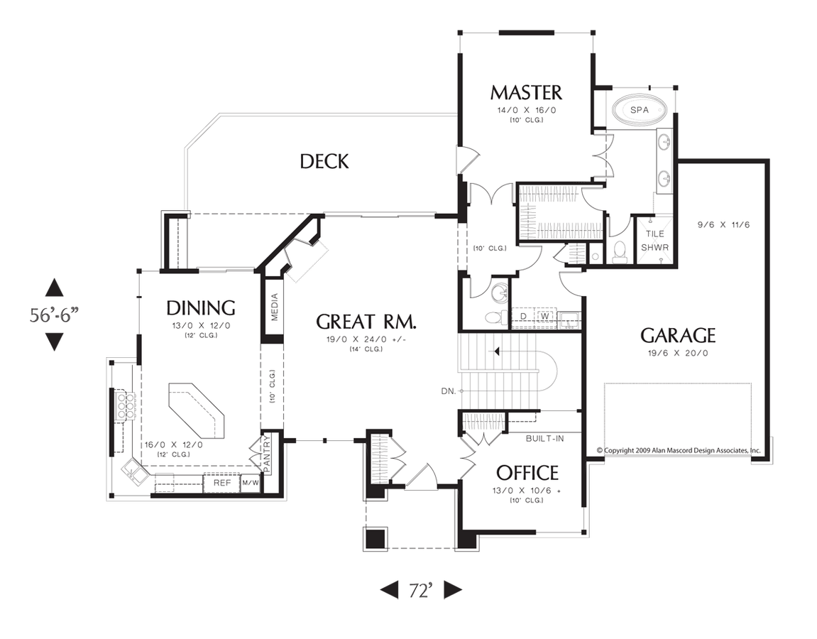 Mascord House Plan 1332 The Thompson