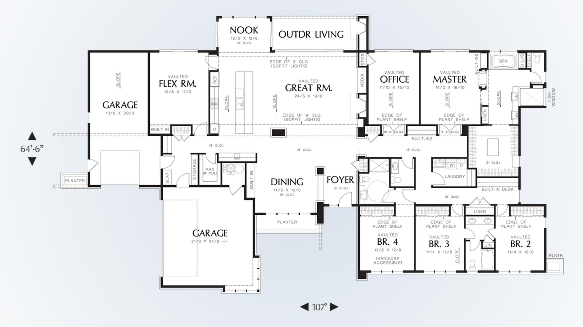 mascord house plan 1333 the broadway main floor plan pin enlarge flip
