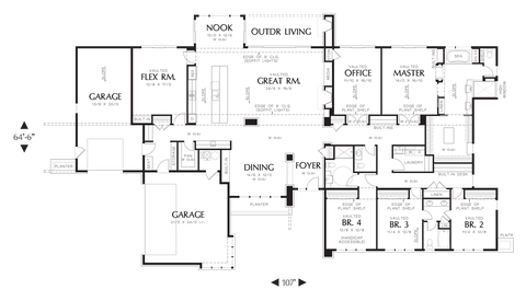 Image for Broadway-Well Organized Luxurious Contemporary Plan-Main Floor Plan