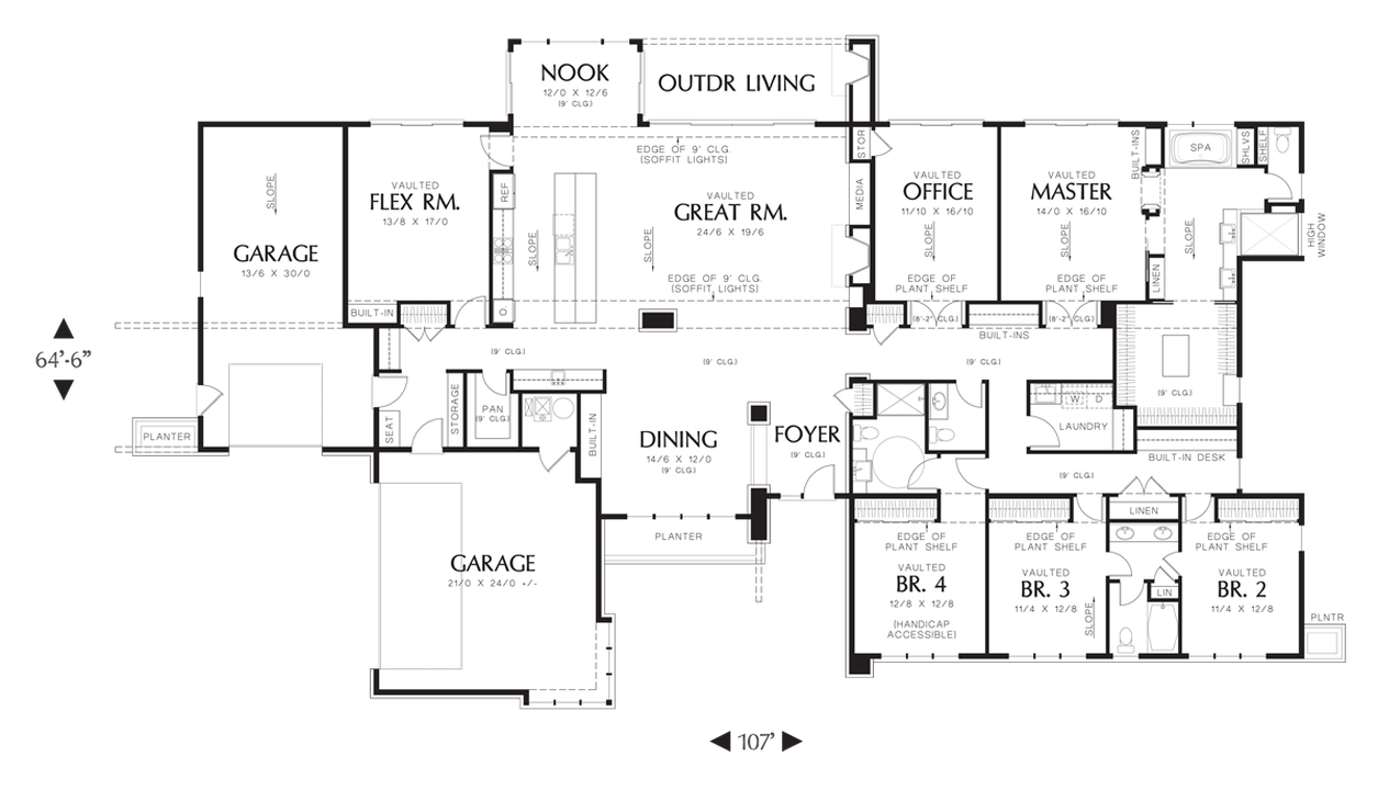 House plan 1333 the broadway for Broadway plan
