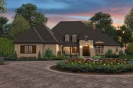 Front Rendering of Mascord House Plan 1334 - The Cherbourg