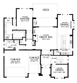 Image for Ashwood-Luxury Inside and Out, Perfect for Sloped Lots- Great Outdoor Spaces-Main Floor Plan