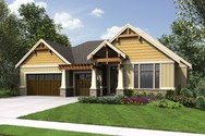 Front Rendering of Mascord House Plan 1337A - The Beaverton