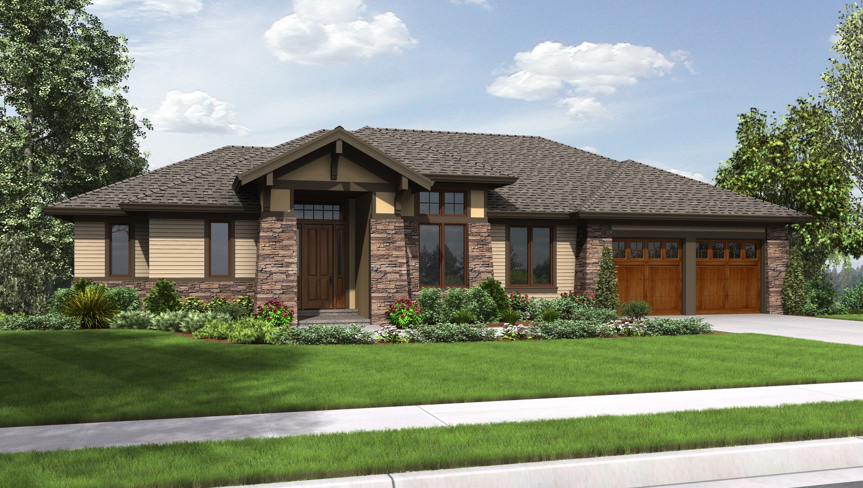 Contemporary House Plan 1339 The Briarwood: 2694 Sqft, 3 ...