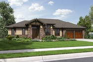 Front Rendering of Mascord House Plan 1339 - The Briarwood