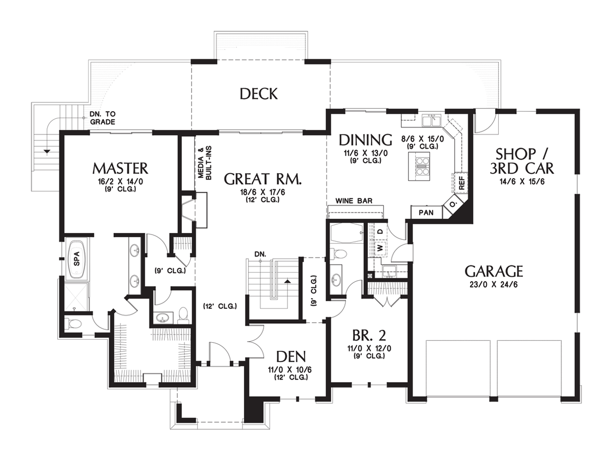 Contemporary House Plan 1339 The Briarwood 2694 Sqft 3 Beds 3 1 Baths