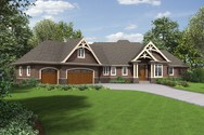 Front Rendering of Mascord House Plan 1340 - The Copperfield