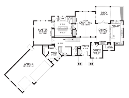Image for Copperfield-Delightful Amenity Rich Ranch Style Home-Main Floor Plan