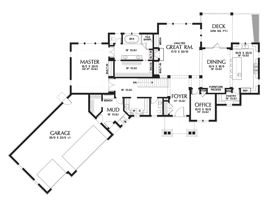 House Plan 1340 The Copperfield
