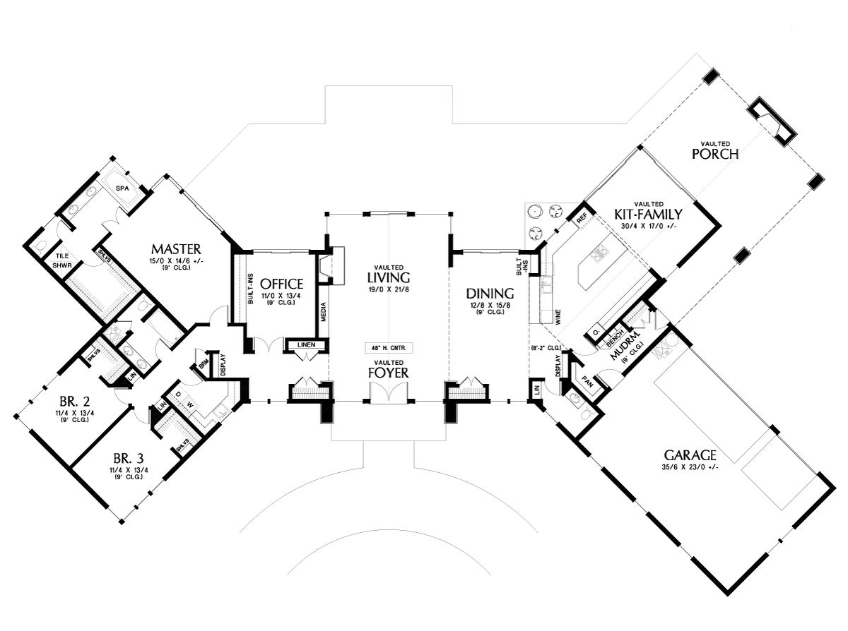 Mascord House Plan 1343 The Dandridge