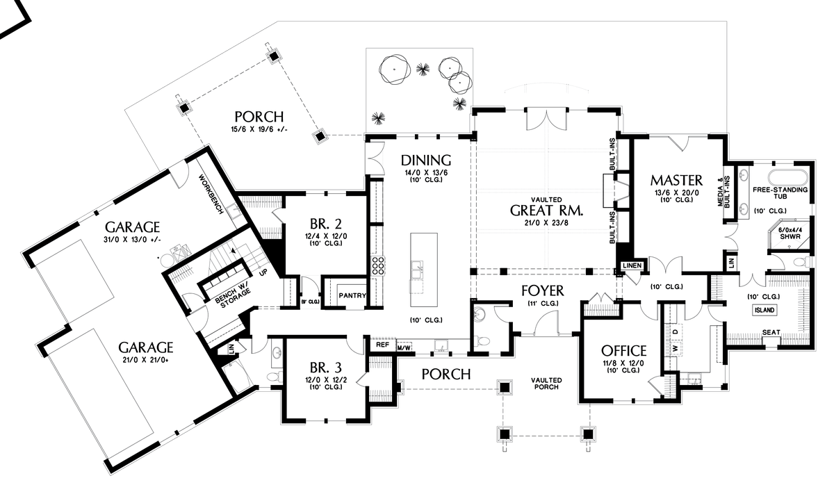 Mascord House Plan 1345 The Wilson