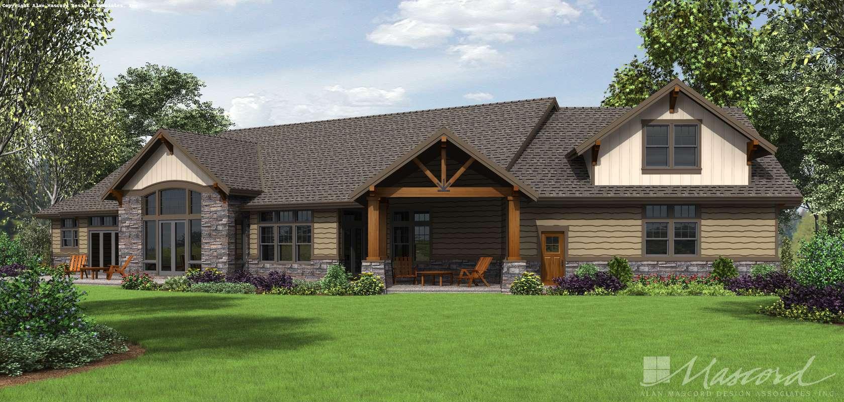 Mascord House Plan 1345: The Wilson