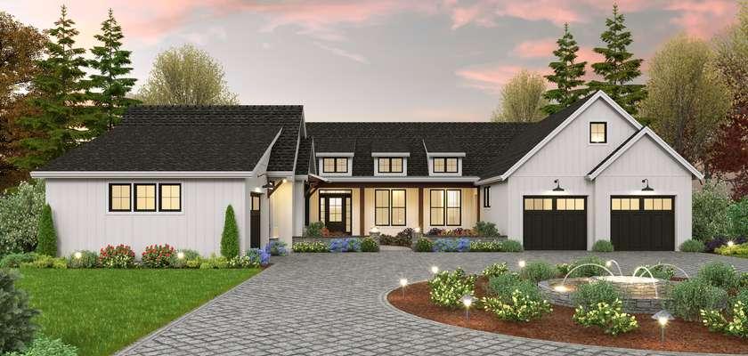 Mascord House Plan 1347: The Granary