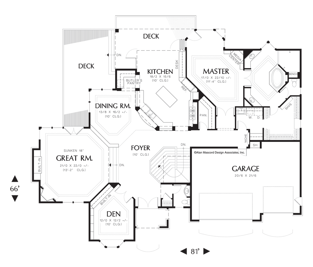 Mascord house plan 1404 the avellana House plans mascord