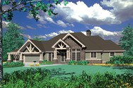 Front Rendering of Mascord House Plan 1406 - The Holdsworth