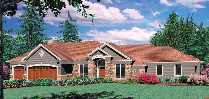 Mascord House Plan 1407: The Springbrook