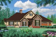 Front Rendering of Mascord House Plan 1408 - The Jorgenson