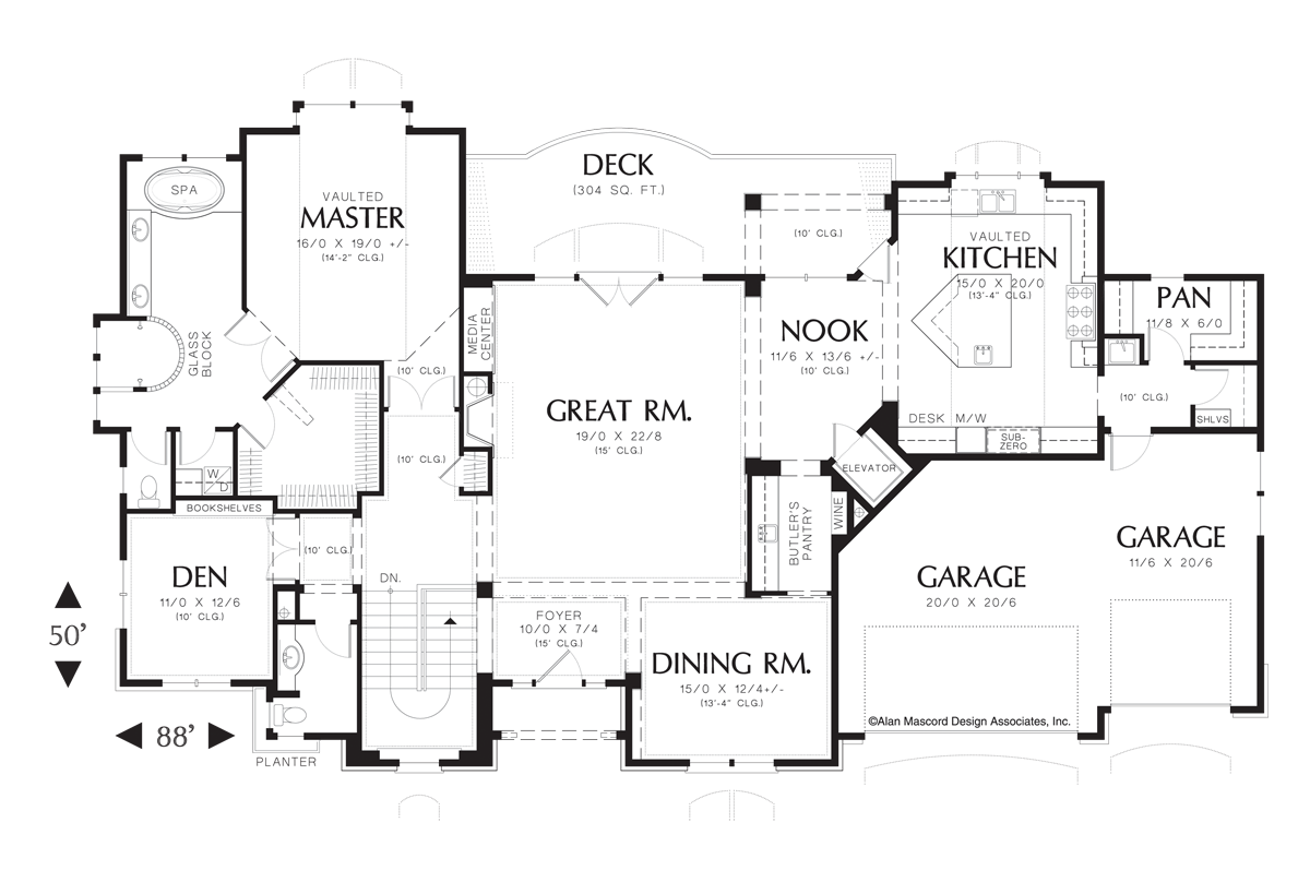 mascord house plan 1408 the jorgenson image for jorgenson french country estate plan with high ceilings main floor plan