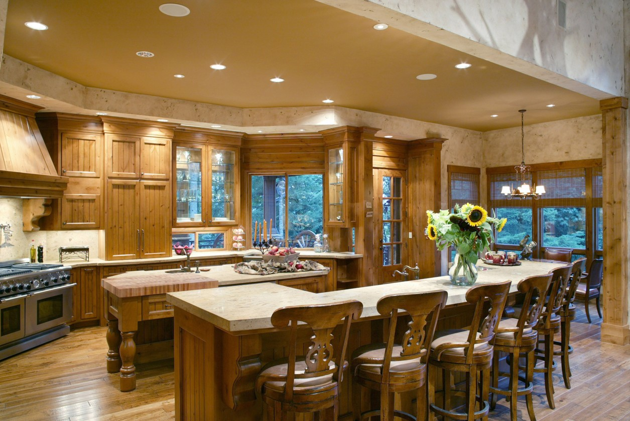 Image gallery house plans gourmet kitchens for Gourmet kitchen islands