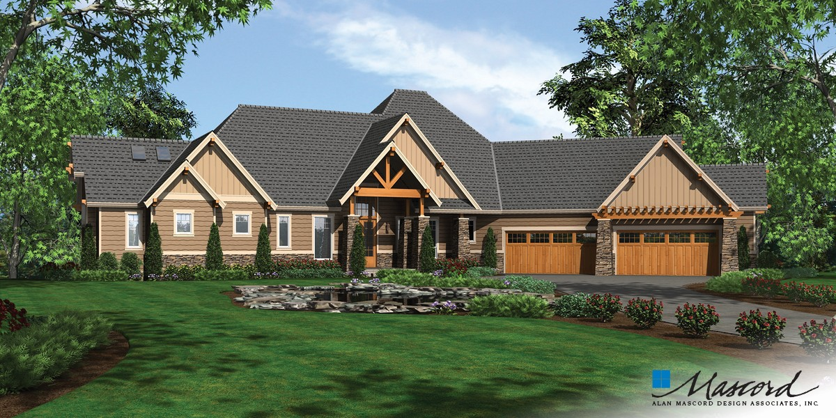 Mascord House Plan 1411d The Timbersedge
