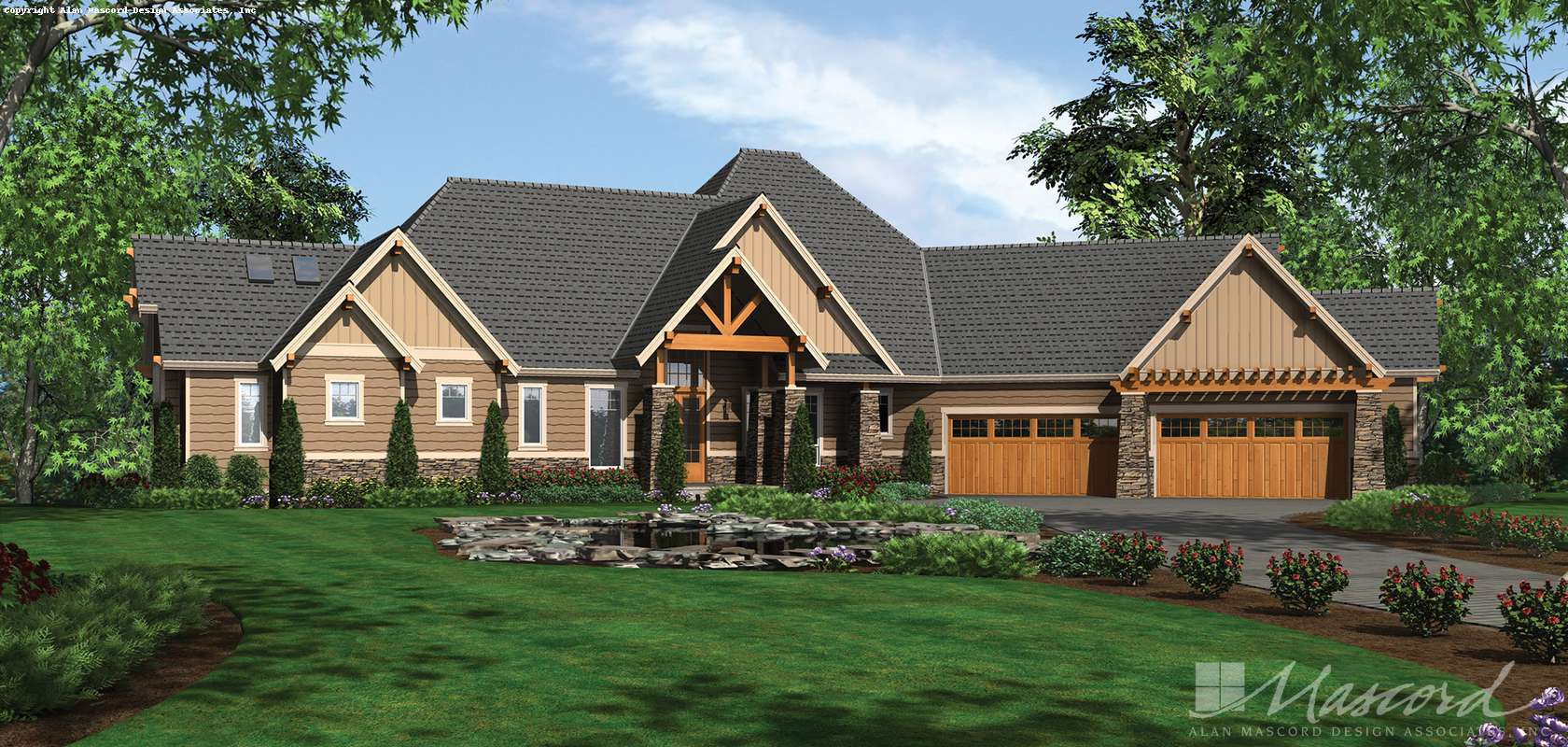 Mascord House Plan 1411D: The Timbersedge