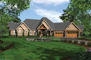 Front Rendering of Mascord House Plan 1411D - The Timbersedge