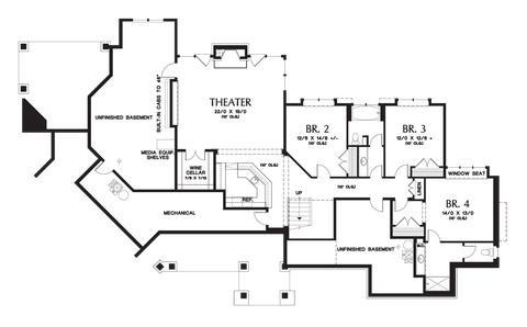 Image for Tasseler-Large One Story Plan with Walk-out Basement-Lower Floor Plan