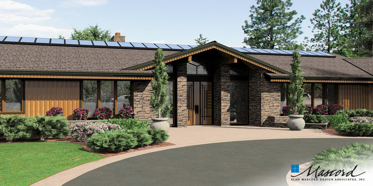 Image for Harrisburg-Prairie Home with Multiple Wings and Attached Studio-Front Rendering