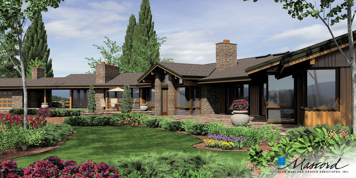 Image for Harrisburg-Prairie Home with Multiple Wings and Attached Studio-Rear Rendering