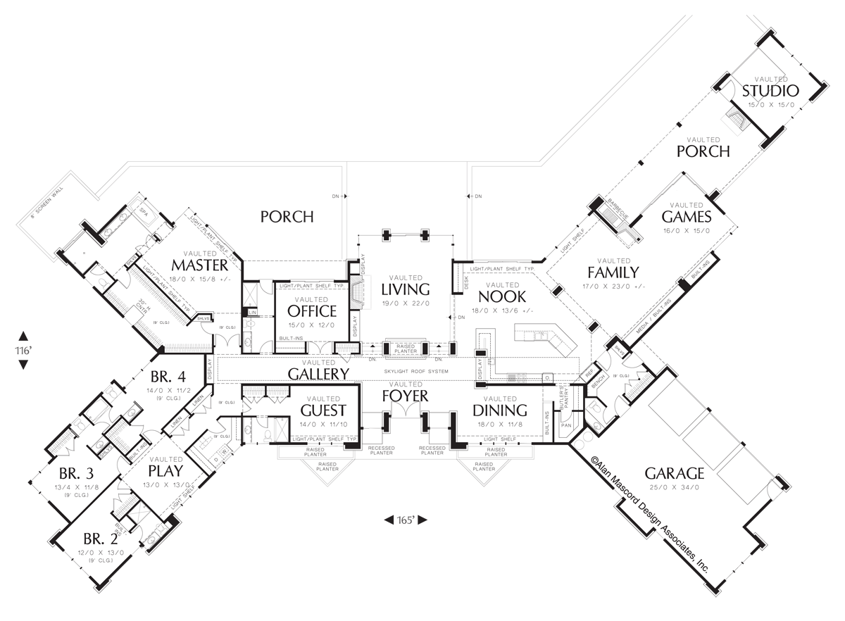 Mascord House Plan 1412 The Harrisburg