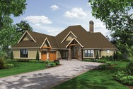 Front Rendering of Mascord House Plan 1413 - The Lambert