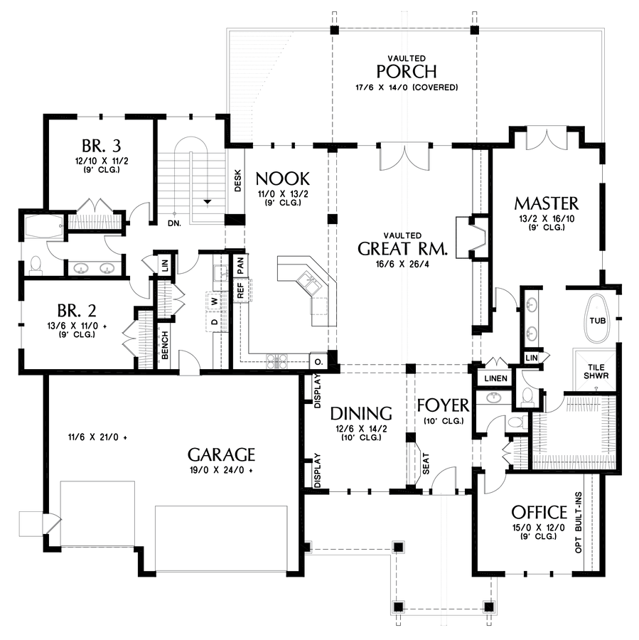 Craftsman House Plan 1416 The St Louis: 4126 Sqft, 4 Beds