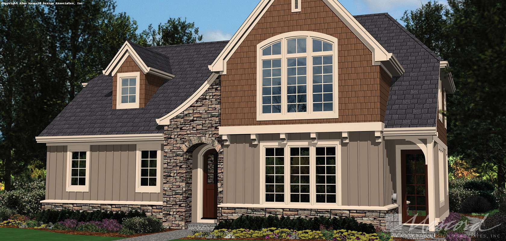 Mascord House Plan 2102AC: The DuMont