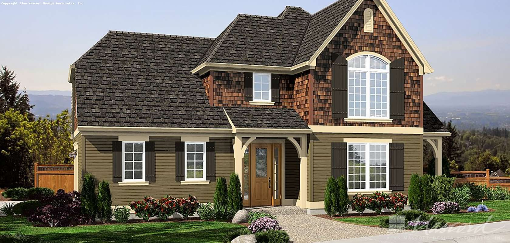 Mascord House Plan 2102AE: The Gutenberg